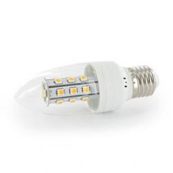 WE LED žárovka 21xSMD 3W E27 teplá bílá – svíčka