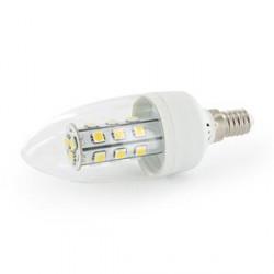WE LED žárovka 21xSMD 3W E14 teplá bílá – svíčka