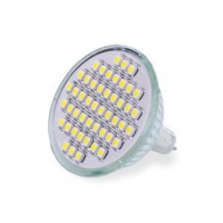WE LED žárovka 48xSMD 2,5W GU5.3 bílá – refl