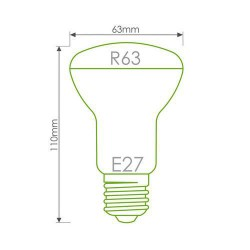 WE LED žárovka 80xSMD 4W E27 teplá bílá - refl.