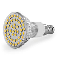WE LED žárovka 48xSMD 2,5W E14 teplá bílá - refl