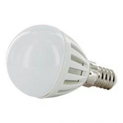 WE LED žárovka 18xSMD 2W E14 teplá bílá- koule G45