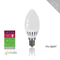 WE LED žárovka 18xSMD 2W E14 teplá bílá–svíčka C37