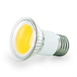 WHITENERGY LED žárovka, 1xCOB, MR16, E27, 2.5W, 230V, čiré sklo, teplá bílá