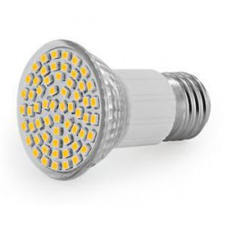 WE LED žárovka 60xSMD 3W E27 bílá -refl