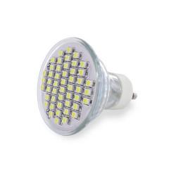 WE LED žárovka 48xSMD 2,5W GU10 teplá bílá – refl
