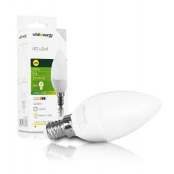 WHITENERGY LED žárovka, 3xSMD2835, C30, E14, 3W, bílá mléčná