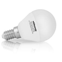 WHITENERGY LED žárovka, E14, 10 SMD 3528, B45, 5W, 230V, teplá bílá, koule