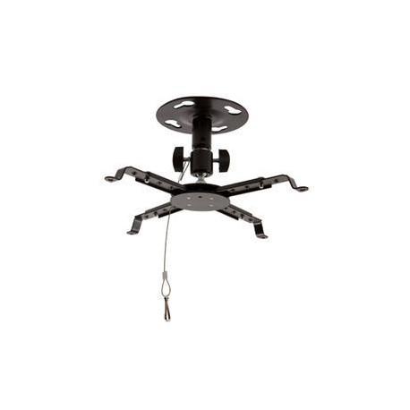 4W Stropní držák projektorů otočný sklopný 8kg BLK