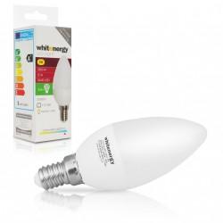 WE LED žárovka SMD2835 C37 E14 3W studená bílá