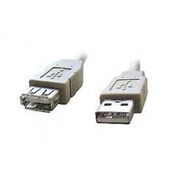 Kabel USB A-A 1,8m 2.0 prodluž,HQ Black,zlac.kont.