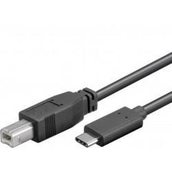KABEL USB 3.1 konektor C/male - USB 2.0 konektor B/male, 1.0m