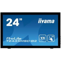 "24"" LCD iiyama T2435MSC-B2 - 6ms,250cd/m2,DVI,HDMI, DP,USB,multidotek,kapacitní,kamera+mikrofon"