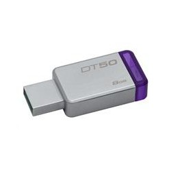 8GB Kingston USB 3.0 DT50 kovová fialová