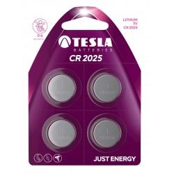 TESLA - baterie TESLA CR2025, 4ks, CR2025