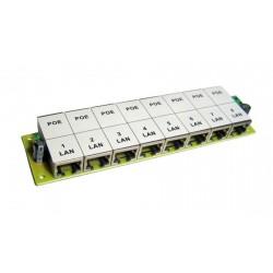 POE-PAN8, 8-portový pasivní POE panel