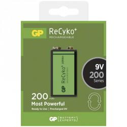 Nabíjecí baterie GP 6F22/ 9V (200mAh)- 1ks