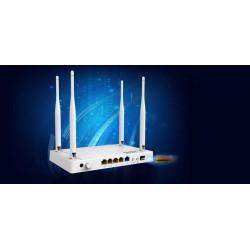 NETIS WF2780F wifi AC 1200Mbps Gigabit Fiber router, 4xGLAN, 1xGWAN 1xfiber,4x fixní antena 5dB, full Gigabit porty