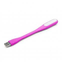 GEMBIRD USB lampička, flexibilní, růžová