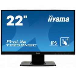 "22"" LCD iiyama T2252MSC-B1 -IPS, FullHD, repro, VGA, HDMI, DisplayPort, USB, kapacitní multidotykový"