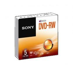 Média DVD-RW SONY 4.7GB 5 ks v balení (120 min.)