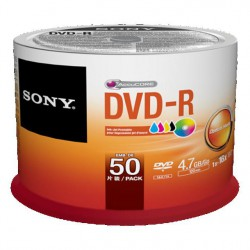 Média DVD-R SONY 4.7GB 50ks Injekt Printable Spindle
