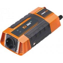 Měnič napětí Carspa PID600 12V/230V+2xUSB 600W, modifikovaná sinus, digitální display