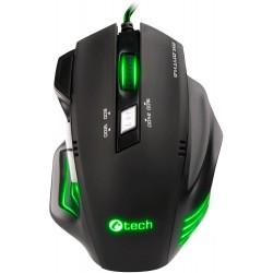 C-TECH Akantha herní myš, zelené podsvícení, USB