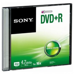Média DVD+R SONY 4.7GB 1 ks SLIM (120 min.)