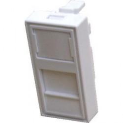 DATACOM Modul 45x22,5mm do parapet.lišty s clonkou,bílý