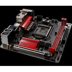 ASROCK MB Z270 GAMING-ITX/AC (intel 1151, 2xDDR4 4000MHz, WIFI, HDMI+DPort +TB, USB3.1, 6xSATA3 +RAID +M.2, 7.1, GLAN, miniITX)