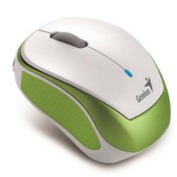 GENIUS myš Micro Traveler 9000R Wireless Optical, 1200DPI, dobíjecí, bílo-zelená