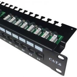 DATACOM Patch panel 24p. CAT6 UTP 3x8p LSA 1U horní zářez