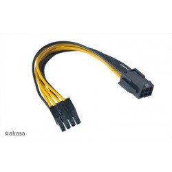 AKASA - PCIex 6-pin na ATX12V 8-pin adaptér