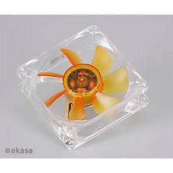 ventilátor Akasa - 8 cm - Amber - ultra tichý
