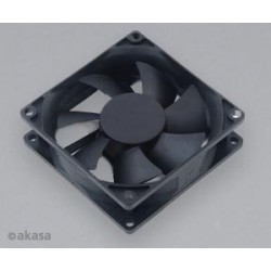 ventilátor Akasa - 8 cm - Paxfan černý - tichý