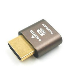 ANPIX HDMI emulátor (1920x1080 na 60Hz) (emuluje připojený monitor v HDMI konektoru, pro těžbu kryptoměny, mining)
