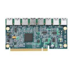 ANPIX adaptér z PCI-E 16x na 8 portů pro RISER karty s konektorem USB (pro těžbu kryptoměny, nefunguje jako USB)