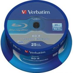 VERBATIM BD-R SL (6x, 25GB),NON-ID, 25 cake