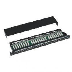 """DATACOM Patch panel Cat5e 24p.1U,STP,19"""",černý,vyvázání"""