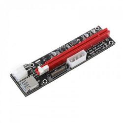 ANPIX verTRIO redukce (verze červená) PCIe x1 na PCIe x16 (pro těžbu kryptoměny) (3xCAP, 1xLED, 3 možnosti napájení) (PCIe riser