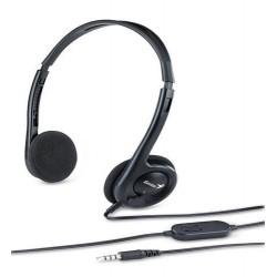 GENIUS sluchátka HS-200C headset , single jack, černý