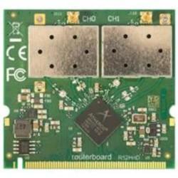 MIKROTIK R52HnD miniPCI karta 802.11a/b/g/n, Atheros AR9220 (2,4/ 5 GHz, 26 dBm)