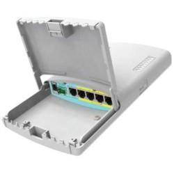 MIKROTIK RouterBOARD RB960PGS-PB PowerBox Pro, 5xGLAN (4x PoE-OUT), Outdoor, nap. adaptér, ROS L4, mont.set