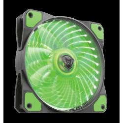 TRUST GXT 762B PC tichý LED ventilátor-black/green