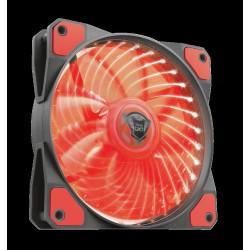 TRUST GXT 762B PC tichý LED ventilátor-black/red