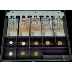 Plastový pořadač na peníze pro C425, kovové držáky bankovek