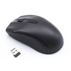 Gembird myš MUSW-107-B, bezdrátová, USB, černá/modrá