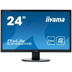 "24"" iiyama E2482HS-B1 - TN,FullHD,1ms,250cd/m2, 1000:1,16:9,VGA,HDMI,DVI,repro"