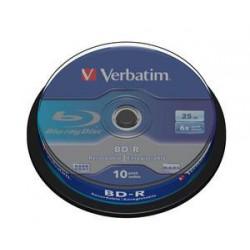 VERBATIM BD-R SL (6x, 25GB), 10ks/pack